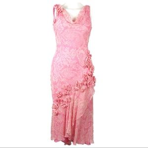 Pink Floral Dual Layer Sleeveless Dress G21
